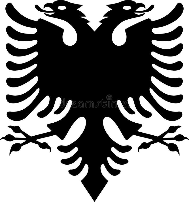 Albanisches schwarzes Eagle von der albanischen Flagge stockfotos