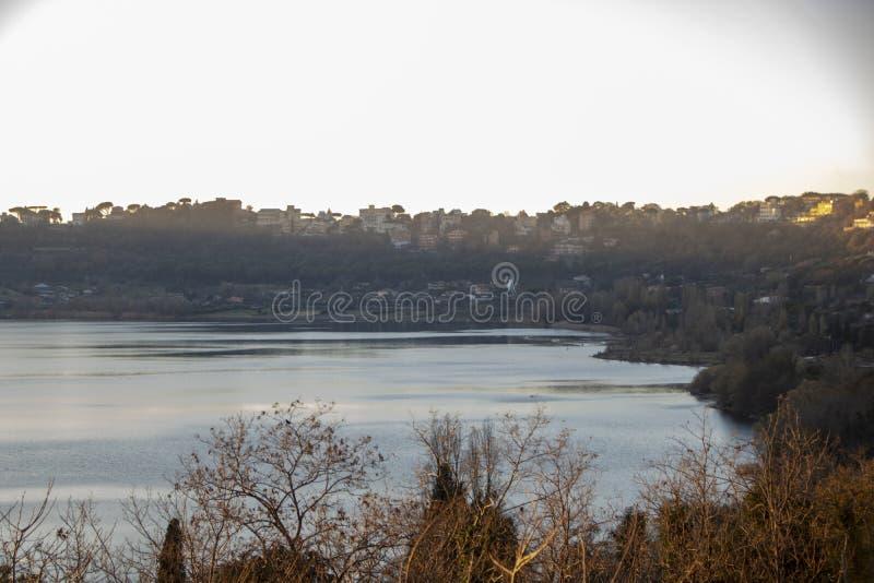 Albano Lake arkivfoto