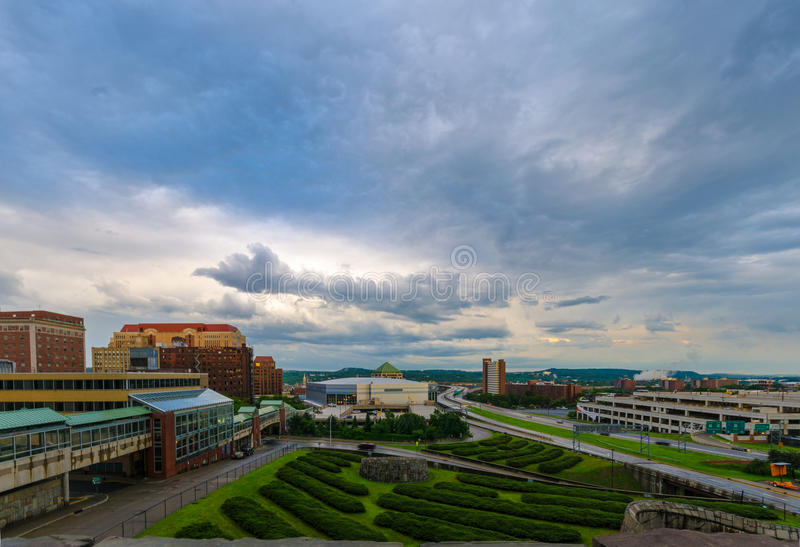 Albany, arquitetura da cidade de NY fotografia de stock royalty free