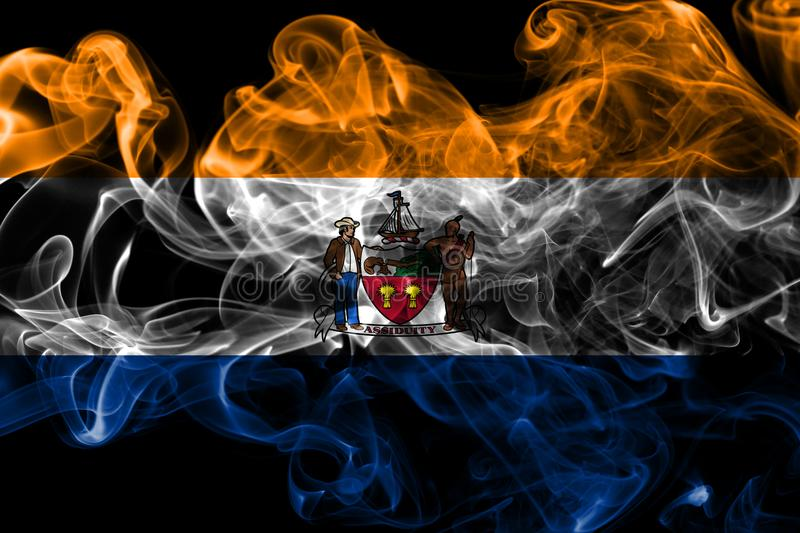 Albany city smoke flag, New York State, United States Of America.  royalty free stock images