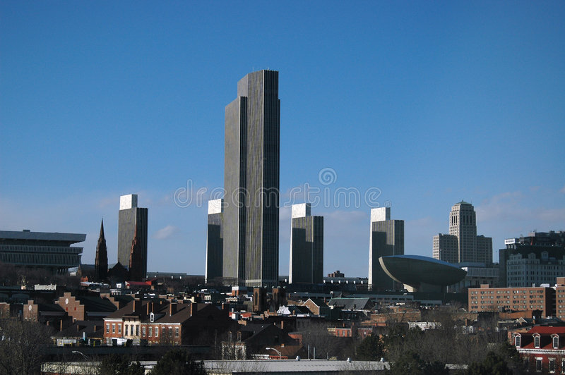 Albany, horizonte de NY imagen de archivo
