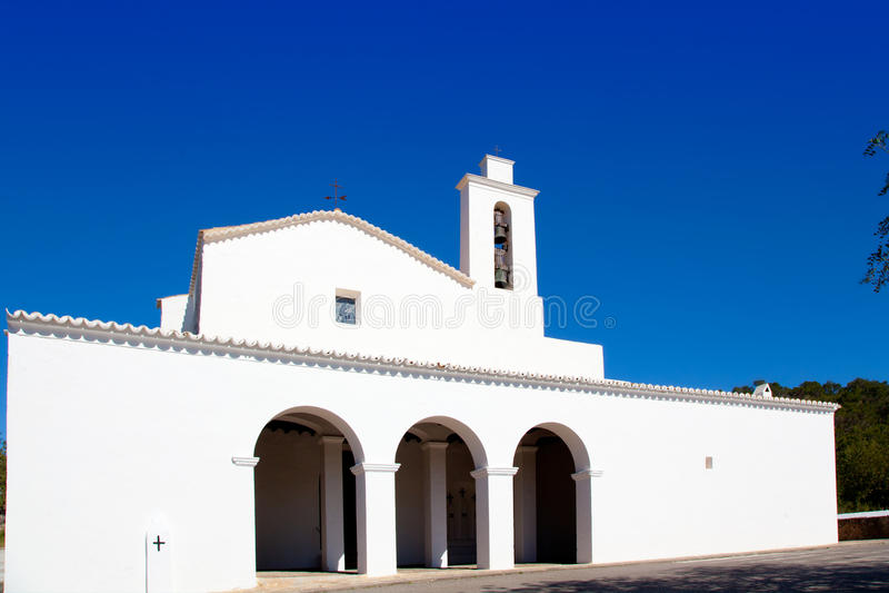albarca教会d ibiza mateo mateu圣sant白色 免版税图库摄影