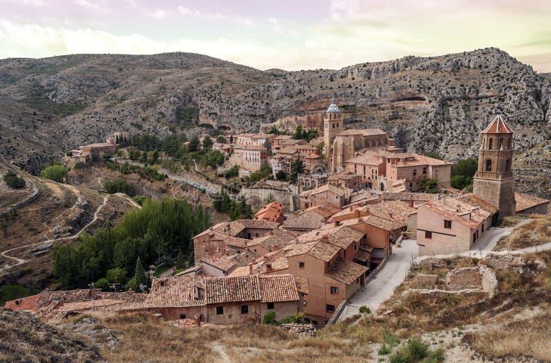 Download Albarracin village stock image. Image of nature, outside - 33680339
