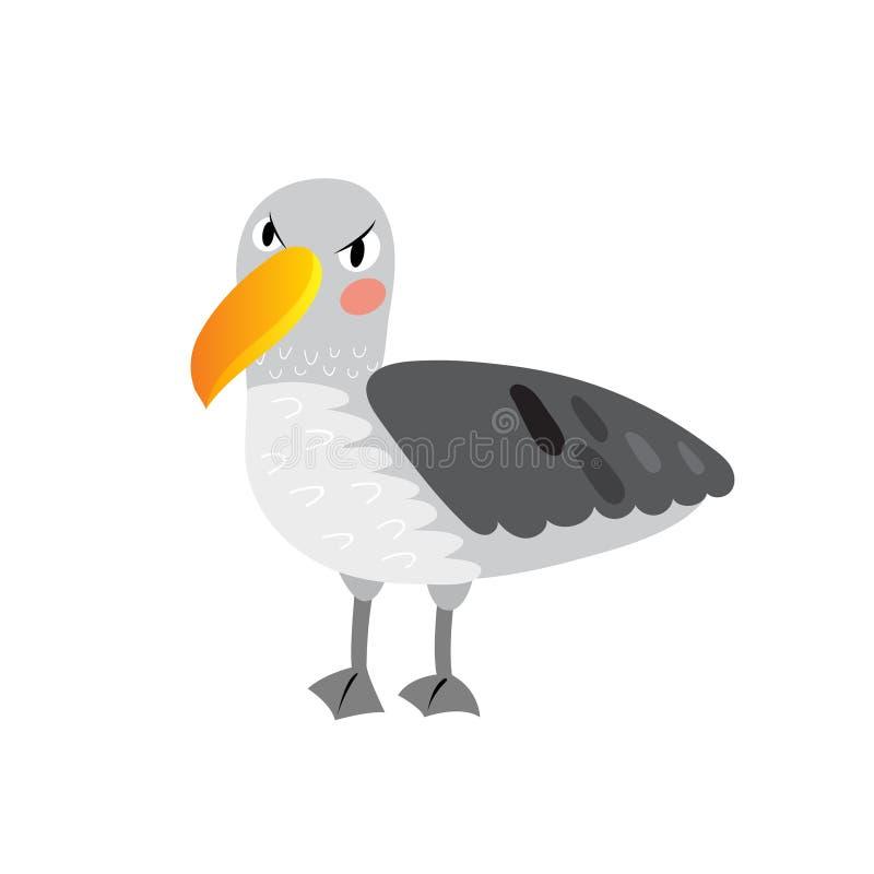 Albatross bird cartoon character. On white background. Vector illustration vector illustration
