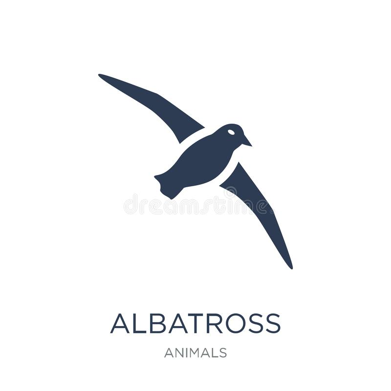 Albatross icon. Trendy flat vector albatross icon on white background from animals collection. Vector illustration can be use for web and mobile, eps10 stock illustration