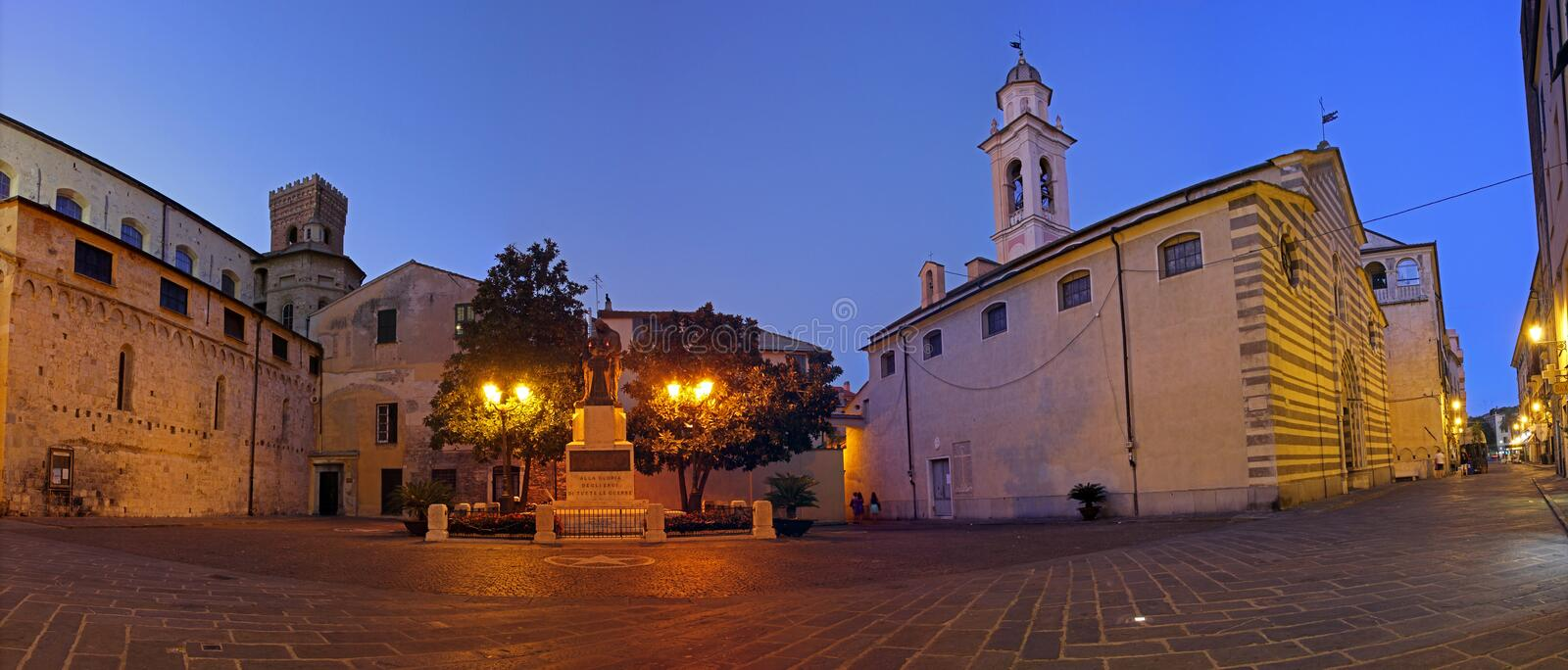 Download Albenga at nigth editorial photo. Image of nigth, historical - 34341456