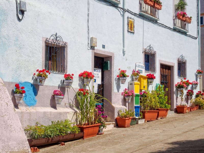 Albergue Virgen de瓜达卢佩河- Ciruena 免版税库存照片