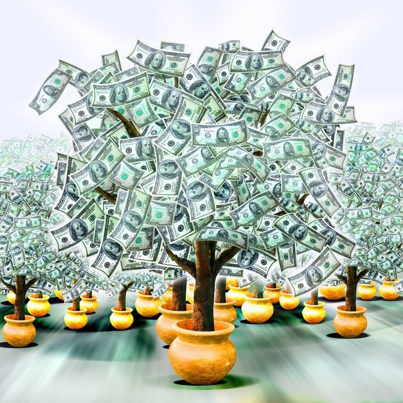 Alberi dei soldi illustrazione di stock