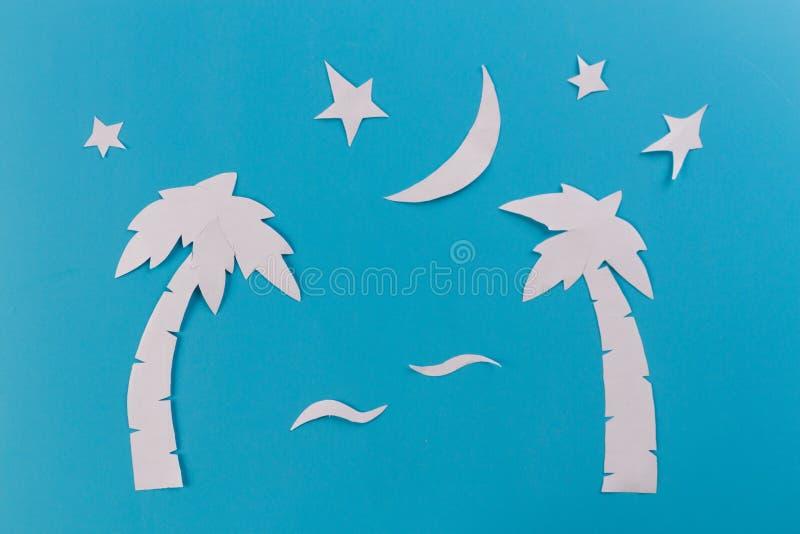 alberi del paim alla notte immagine stock libera da diritti