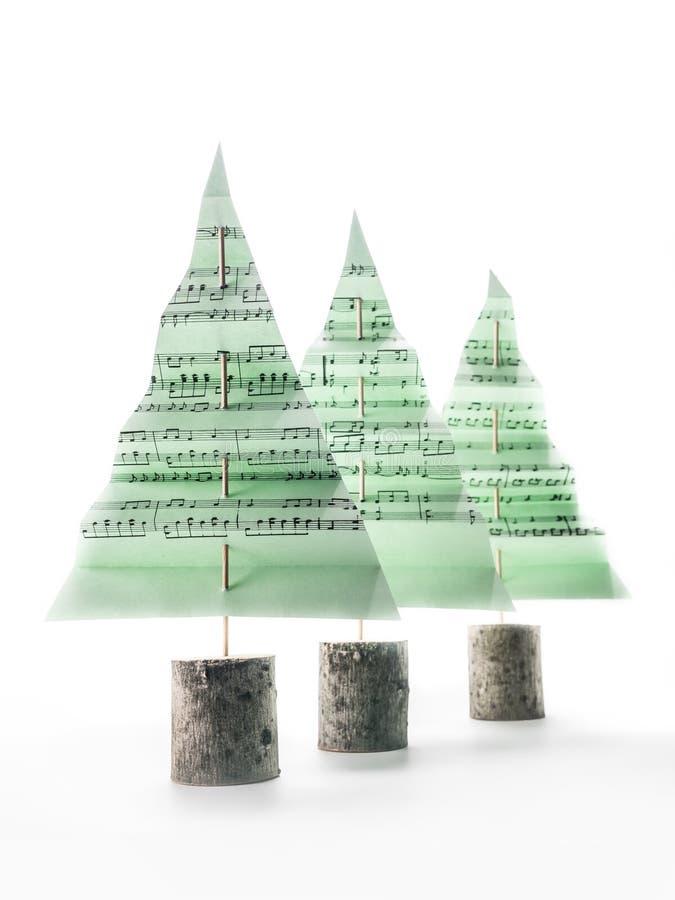Alberi della canzone di Natale immagine stock libera da diritti