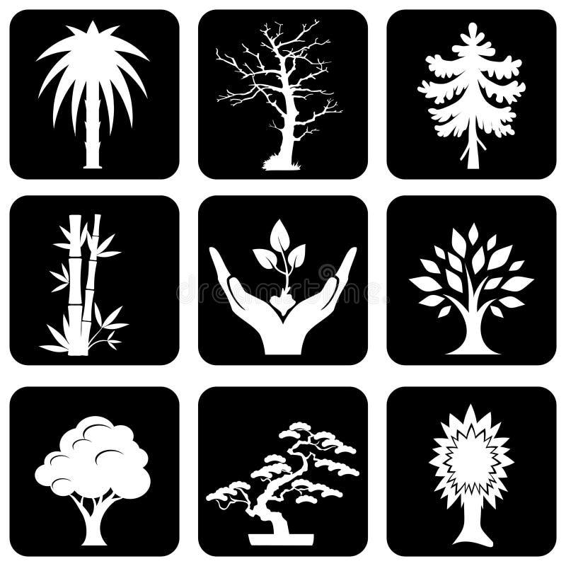 Alberi delle icone royalty illustrazione gratis