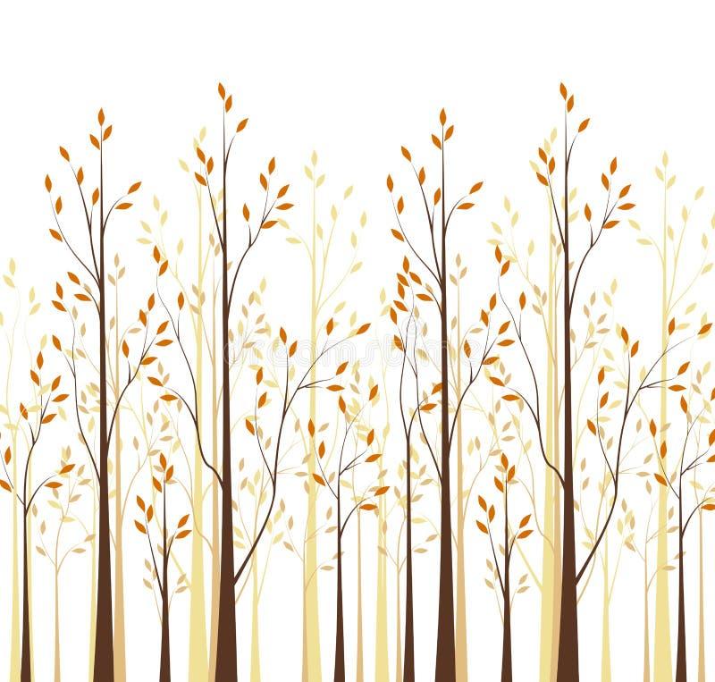 Alberi di autunno illustrazione vettoriale