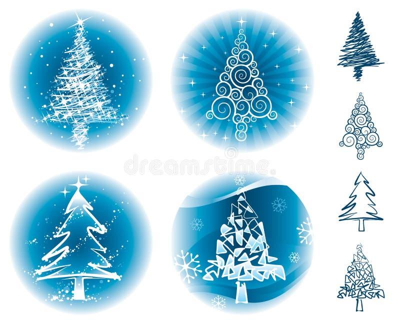 Download Alberi di Natale illustrazione vettoriale. Immagine di illustrazione - 11060348