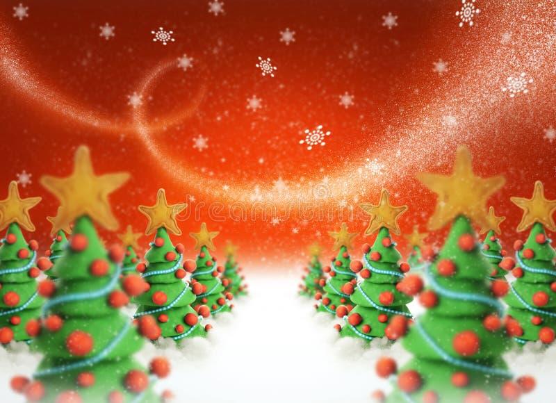 Alberi di Natale 2011 immagine stock libera da diritti