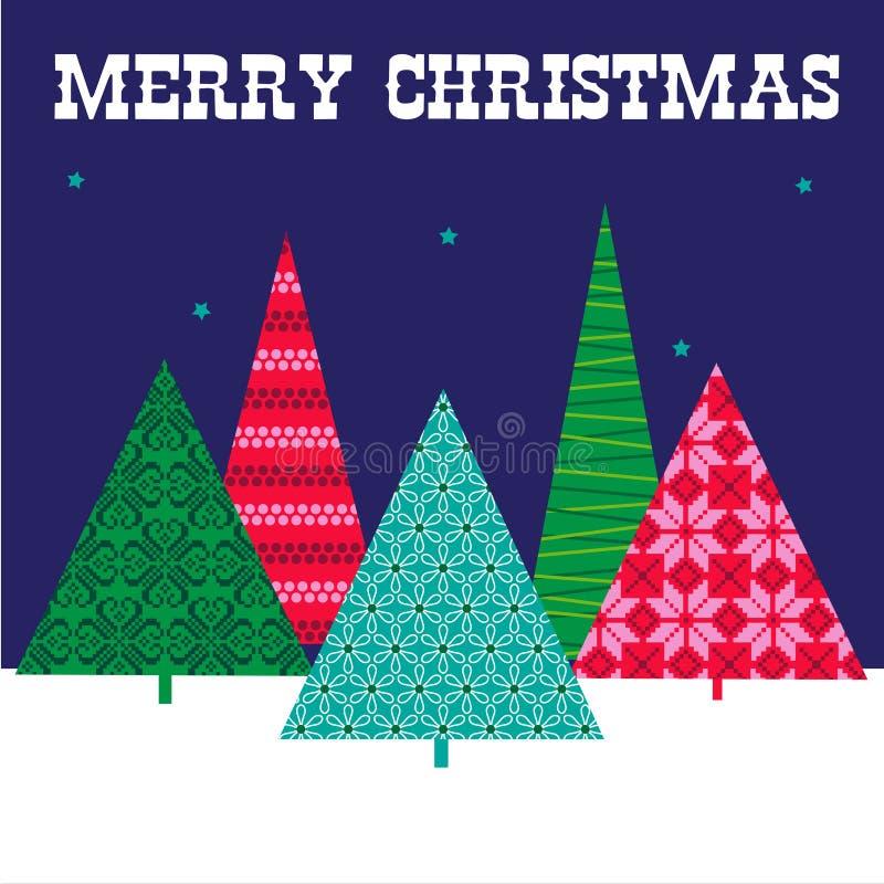 Alberi di Natale con i reticoli illustrazione di stock