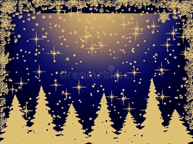 Download Alberi Di Natale Di Grunge Con I Fiocchi Di Neve Illustrazione di Stock - Illustrazione di decorato, illustrazione: 7318658