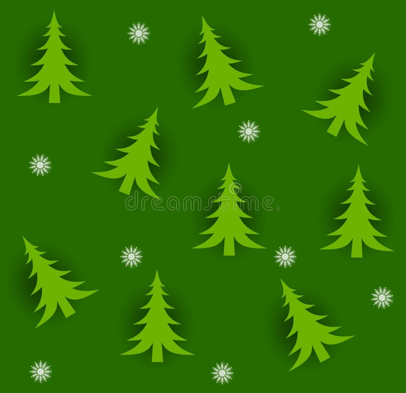 Alberi di Natale di Tileable royalty illustrazione gratis