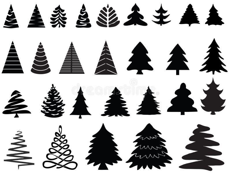 Alberi di Natale di vettore immagini stock