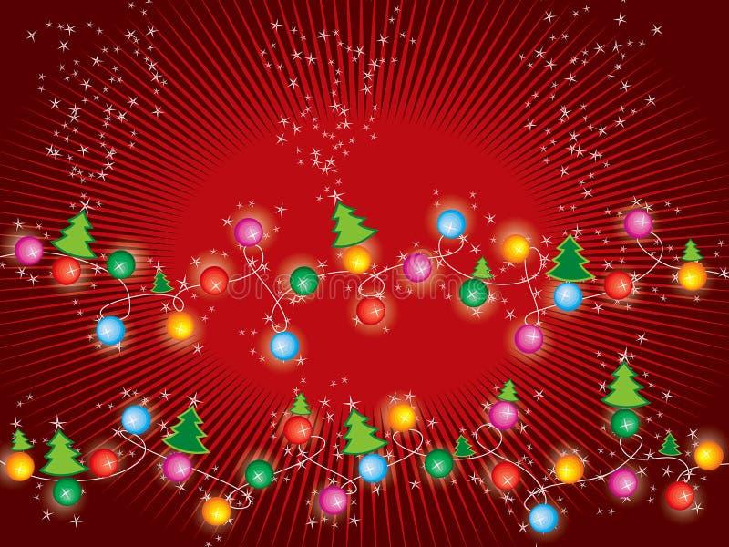 alberi di Natale ed indicatori luminosi illustrazione di stock