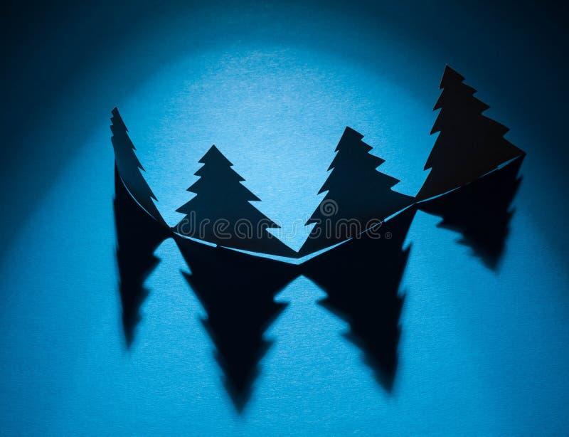 Alberi di Natale fatti immagine stock libera da diritti