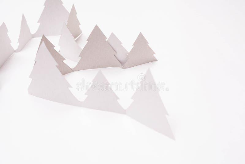Alberi di Natale su bianco immagine stock libera da diritti