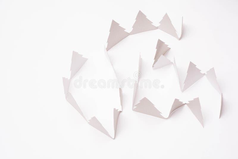 Alberi di Natale su bianco immagine stock