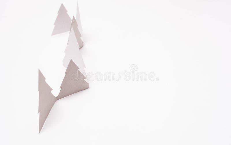 Alberi di Natale su bianco immagini stock libere da diritti