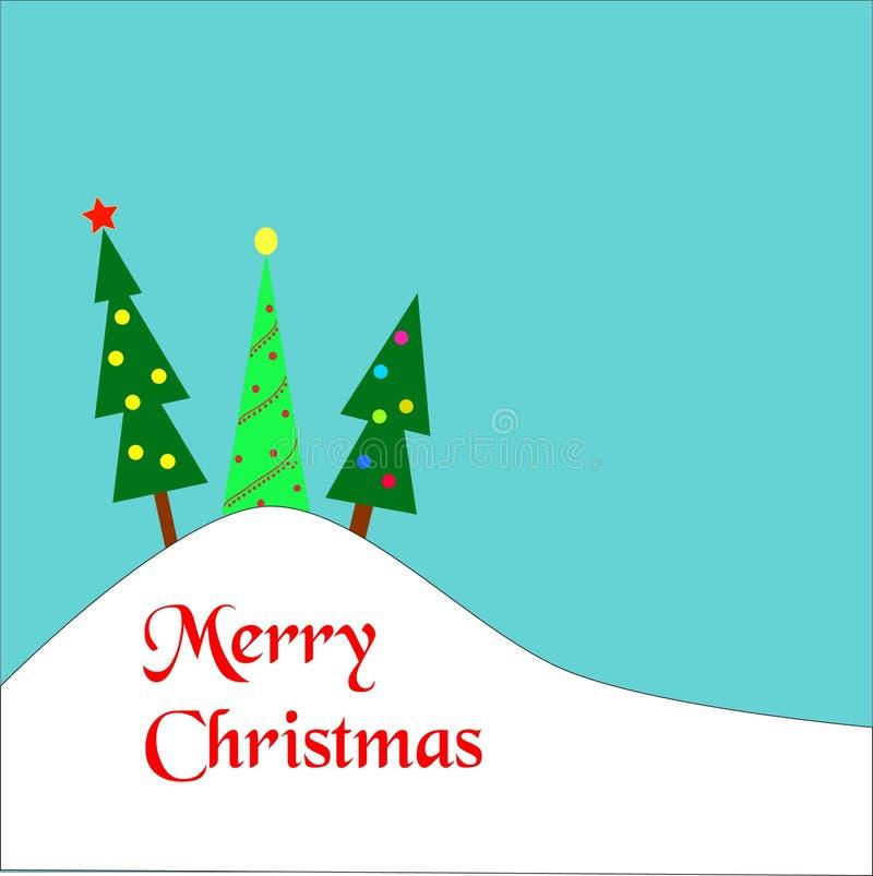 Alberi di Natale su una collina royalty illustrazione gratis