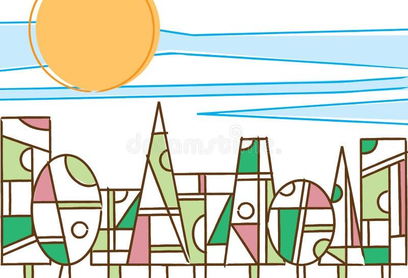 Alberi geometrici variopinti in una luce del giorno della for Case del seminterrato di luce del giorno