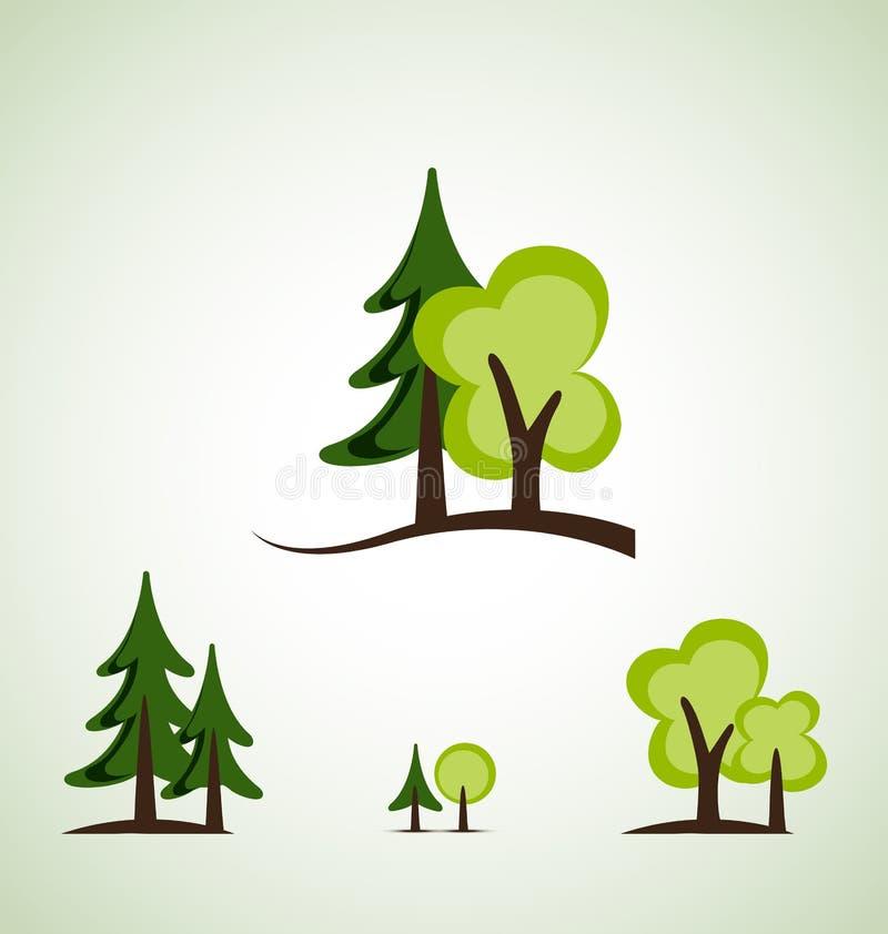 Alberi verdi illustrazione vettoriale