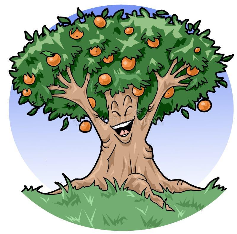 Albero arancione felice illustrazione vettoriale