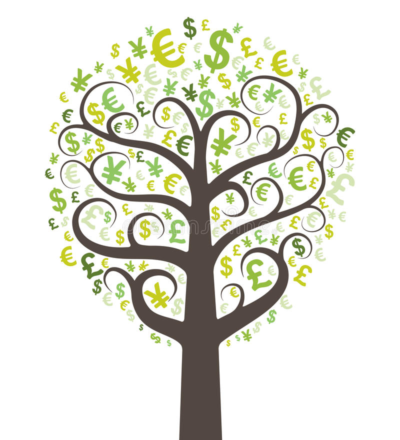 Albero astratto dei soldi royalty illustrazione gratis
