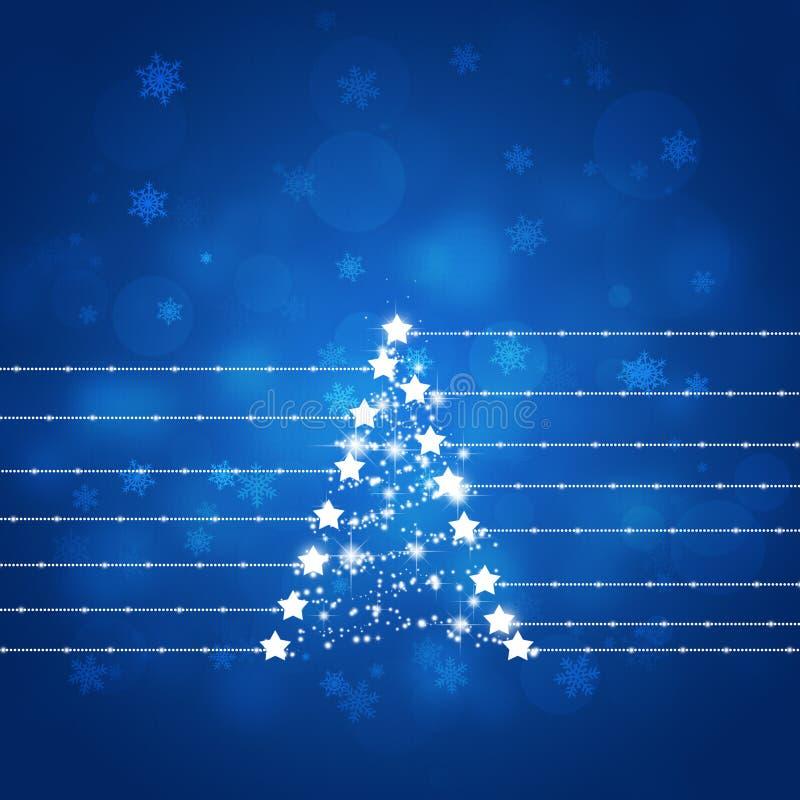 Albero blu della stella dell'estratto di natale royalty illustrazione gratis