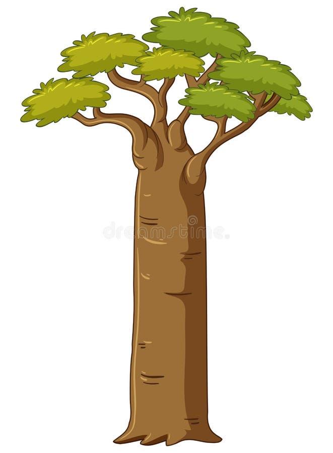 Albero con il grande tronco royalty illustrazione gratis