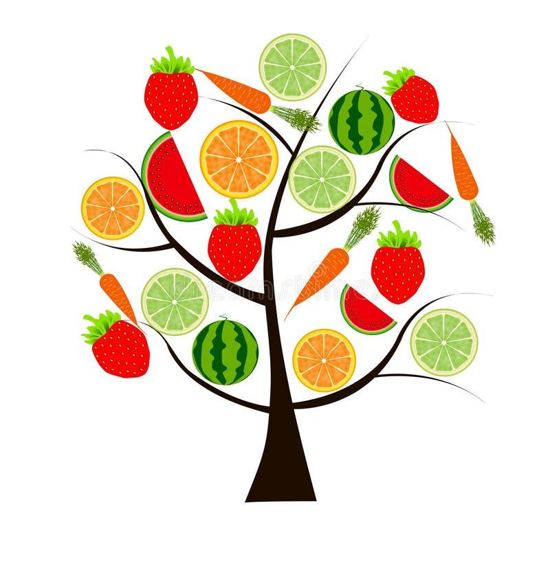 Albero da frutto per la vostra illustrazione di disegno illustrazione di stock