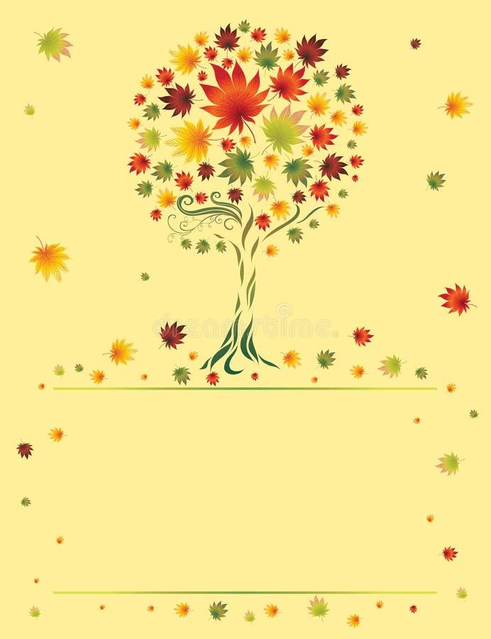 Albero decorativo dai fogli variopinti di autunno. Grazie