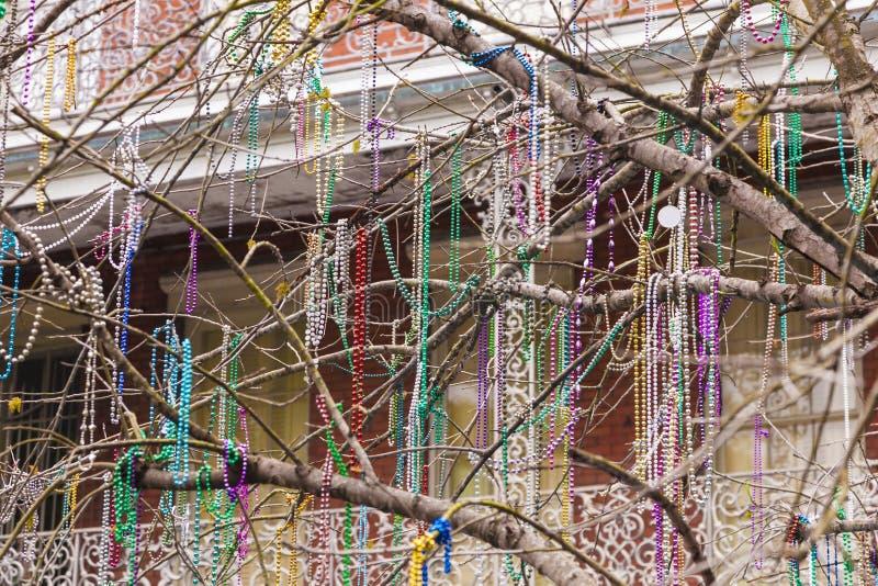 Albero decorato a New Orleans, Luisiana fotografie stock libere da diritti