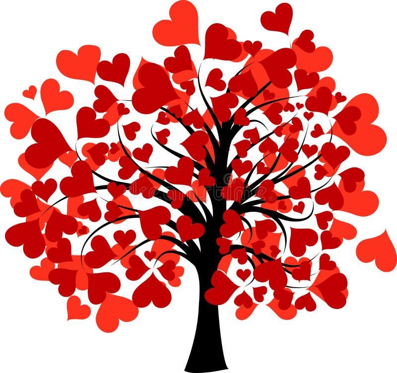 Albero dei biglietti di S. Valentino,   illustrazione di stock