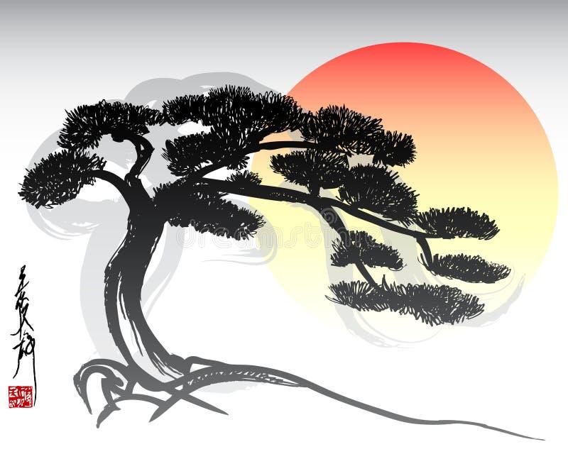 Albero dei bonsai illustrazione vettoriale