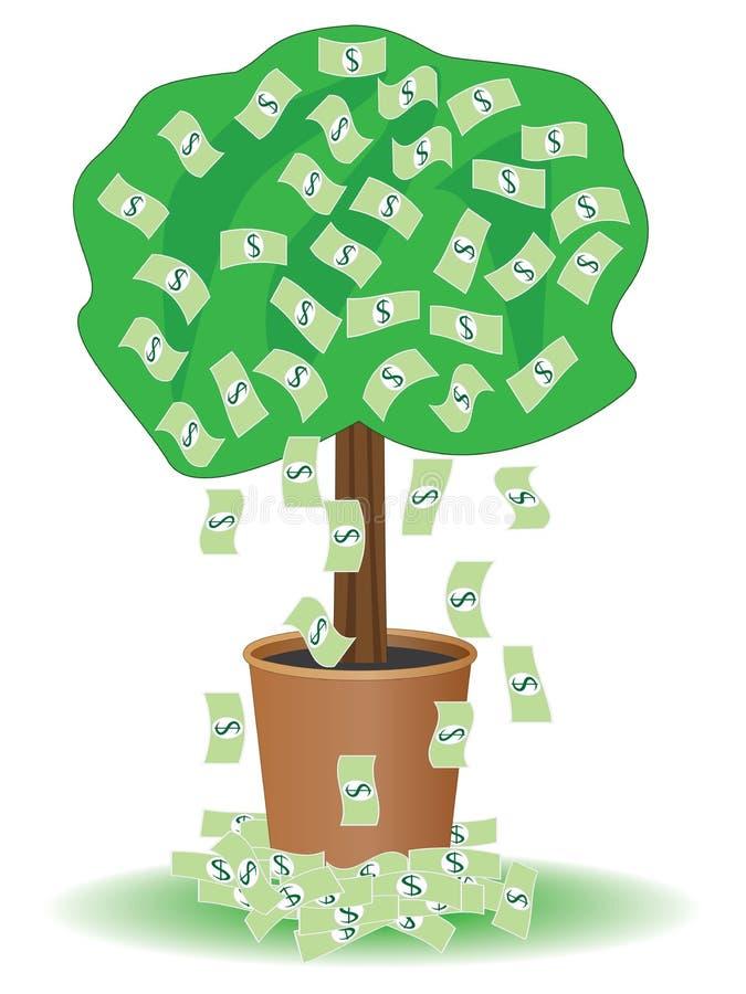 Albero dei contanti royalty illustrazione gratis