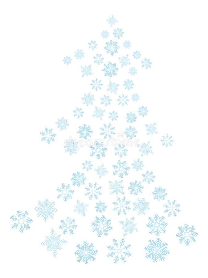 Albero dei fiocchi di neve illustrazione di stock