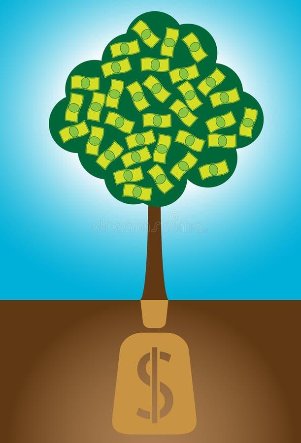 Albero dei soldi illustrazione vettoriale