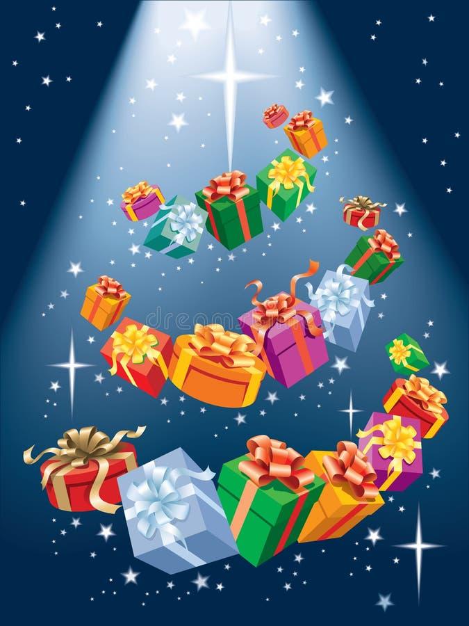 Albero del Babbo Natale illustrazione di stock