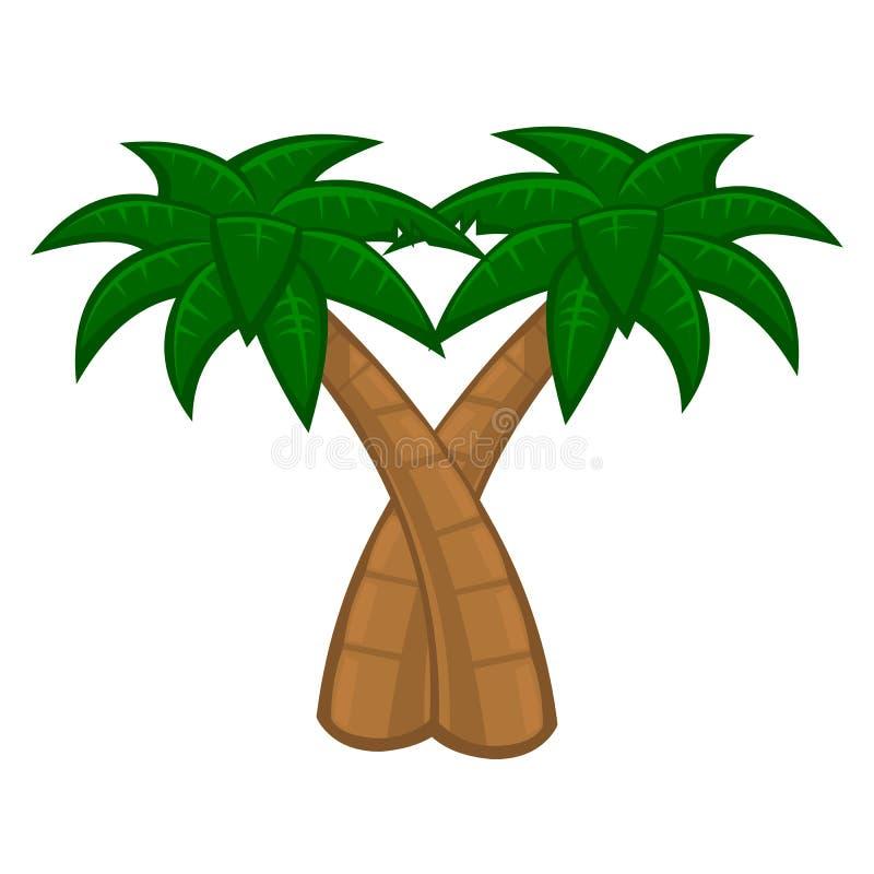 Albero del cocco illustrazione vettoriale
