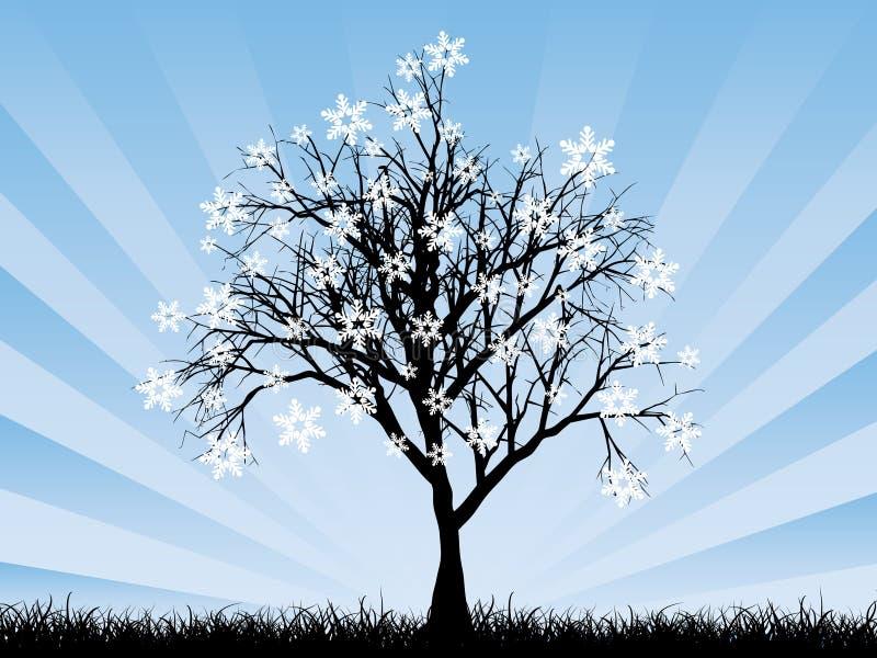 Albero del fiocco di neve illustrazione vettoriale
