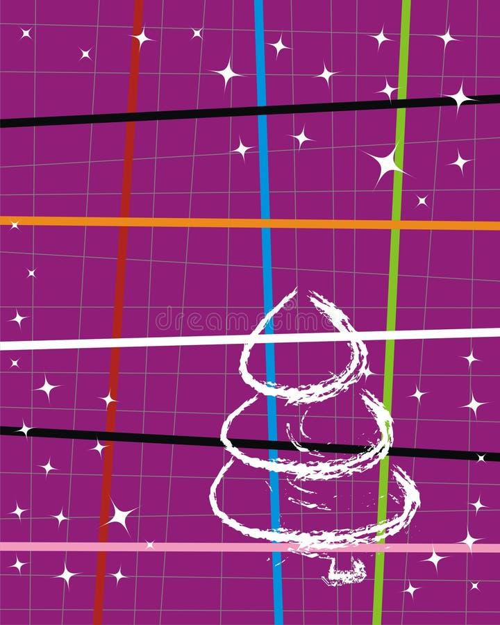 Albero del nuovo anno illustrazione vettoriale