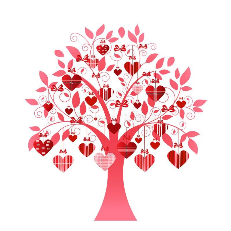 Albero delicato del cuore illustrazione vettoriale