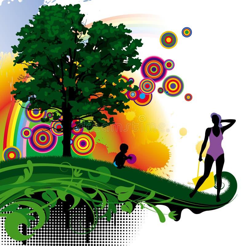 albero dell'illustrazione illustrazione di stock