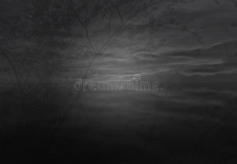 Albero dell'ombra nel cielo fotografia stock