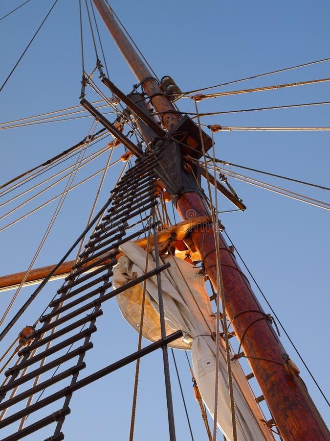 Albero della nave di navigazione fotografia stock